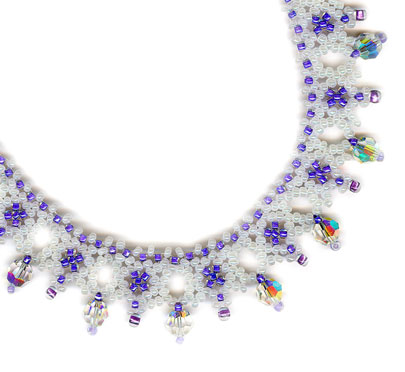 Pearl Periwinkle with f/p crystal AB