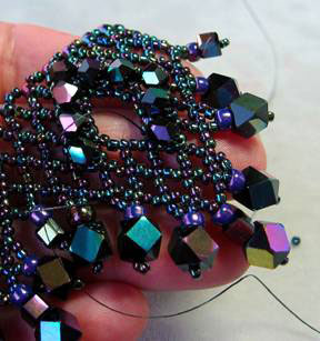 Triple 'V' Jewel Necklace - detail 4