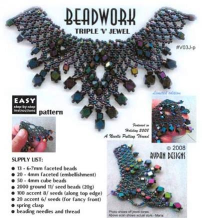 Triple 'V' Jewel Necklace - pattern